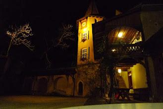 Photo: So wurden  wir auf dem Schloss empfangen.