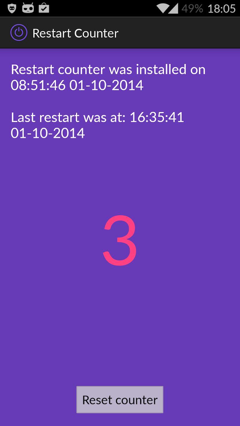 Скриншот Restart Counter