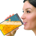 Orange Mobile Drink Icon