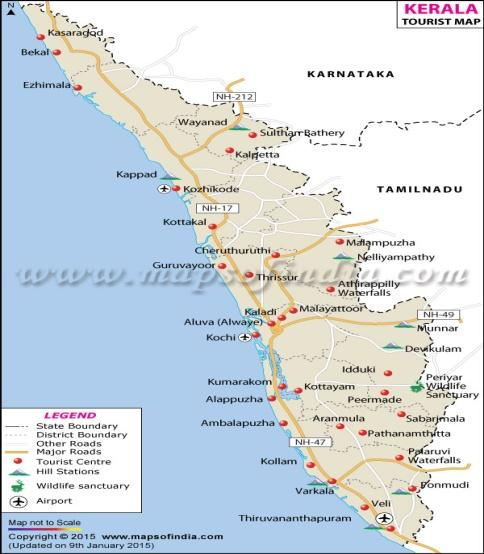 Image result for kerala map