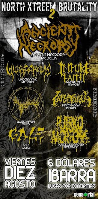 Show brutal Death Metal en ecuador #MetalColombiano