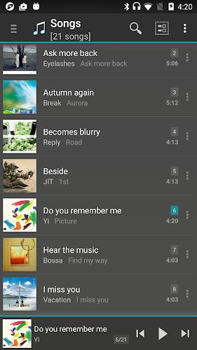 jetAudio HD Music Player Android App Screenshot