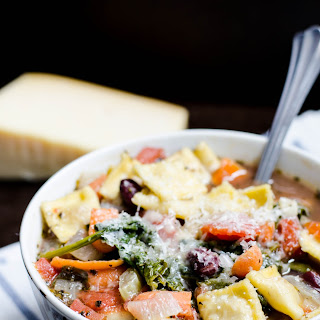 Vegetable Ravioli Soup