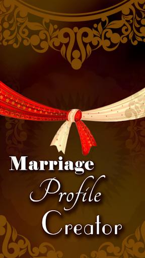 Marriage profile creator