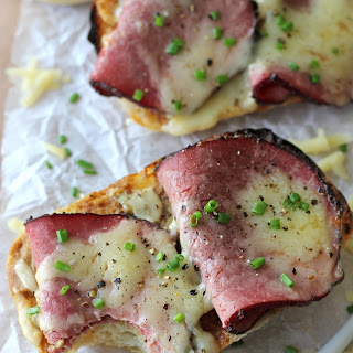Open-Faced Apple Butter Pastrami Sandwiches