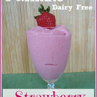7-Minute Strawberry Ice Cream ~ Dairy Free Option