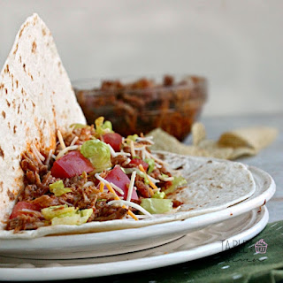 Slow Cooker Mexican Pulled Pork Tacos #Porksgiving.