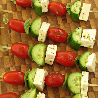 Greek Appetizers on a Stick