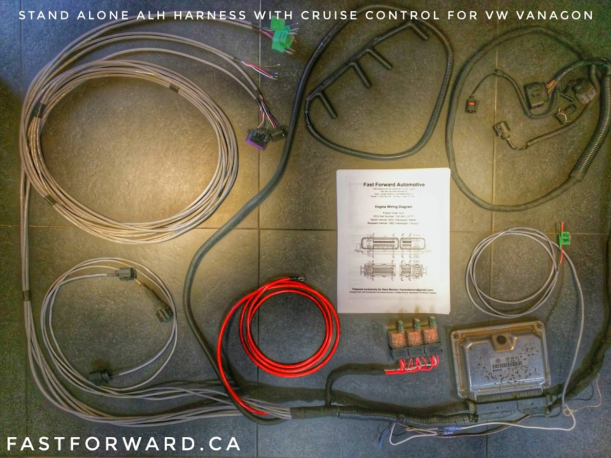 Fast Forward Automotive Wire Harness Retrofitting Services Cruise Control Wiring Simplified Alh Tdi Manufactured For A Volkswagen Vanagon