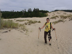Photo: Robohiker crossing the dunes