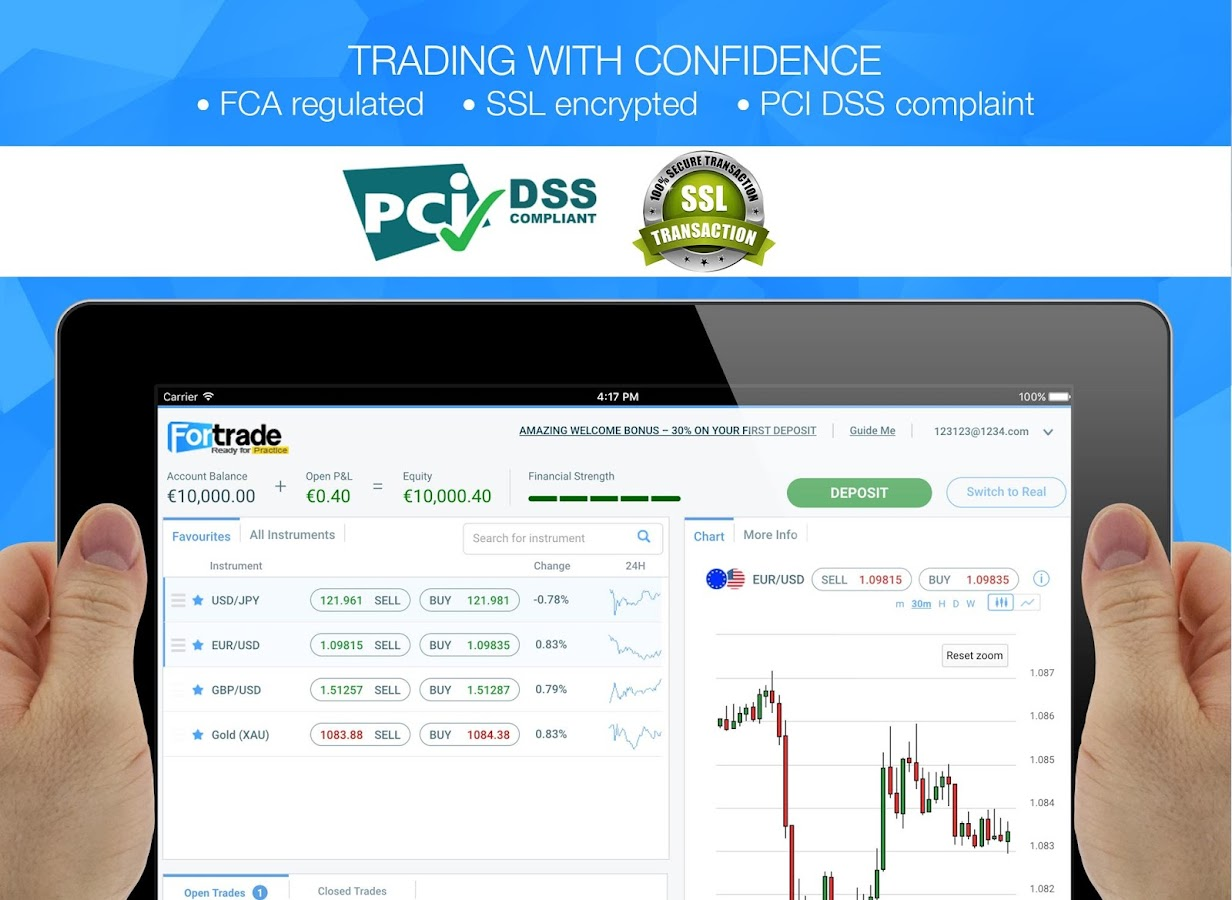 Fortrader Online CFD Trading- screenshot