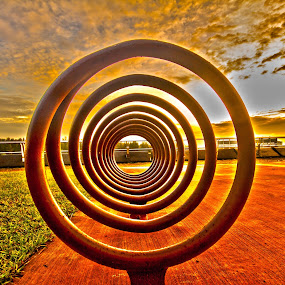 Bicycle parking Rack by Jibo Barroga - Artistic Objects Other Objects ( nature, artistic object, sunrise, landscape )