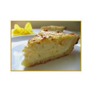 Italian Sweet Ricotta Pie.
