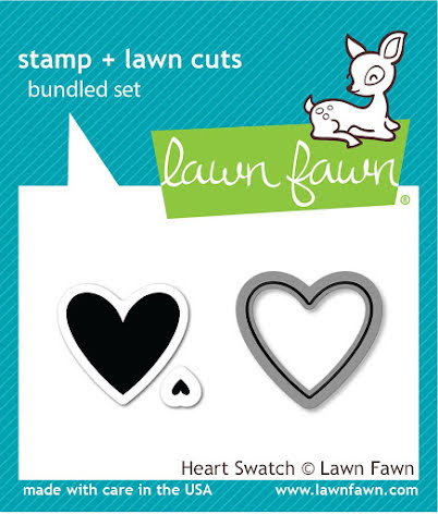 Lawn Fawn Stamp & Die Set - Heart Swatch