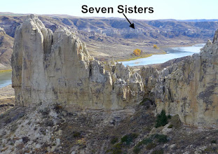 Photo: (Photo taken from above the hole) After lunch we paddled a couple miles and then hiked up to the Seven Sisters.