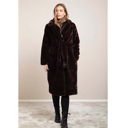 Dry Lake Smoothie belt coat brown chocolat faux fur