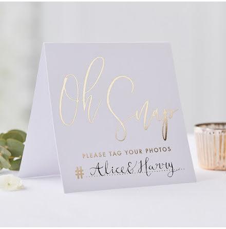 Bordsskyltar Instagram - Gold wedding