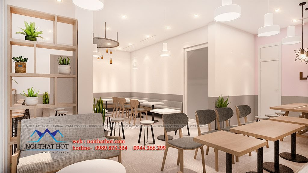 thiết kế quán trà sữa hợp lý