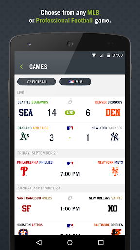 Preplay: MLB Football