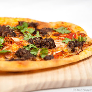 Beef Burger and Kimchi Pizza