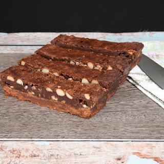 Mocha & Macadamia Double Choc Brownies