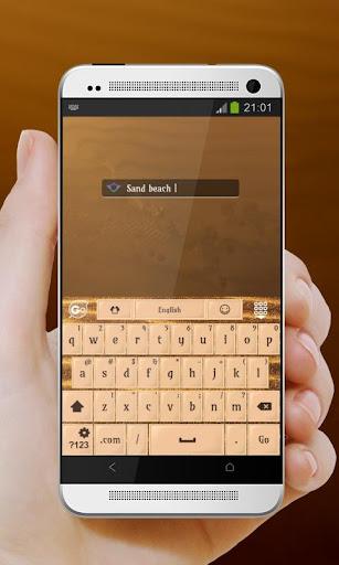 玩免費個人化APP|下載サンドビーチ GO Keyboard app不用錢|硬是要APP