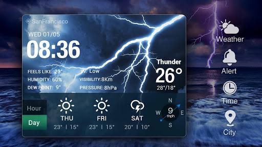 Transparent Weather Widget Raining  screenshots 10