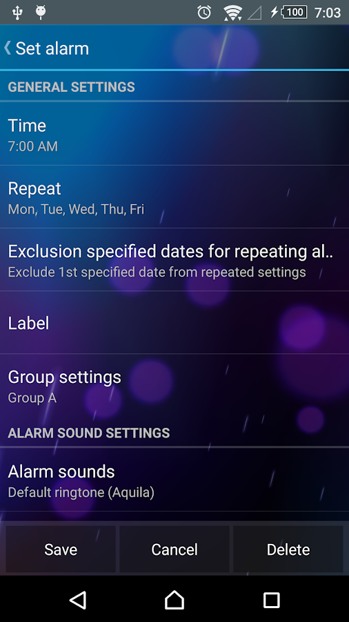 Smart Alarm Free (Alarm Clock)- screenshot
