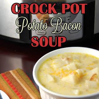 Crock Pot Potato Bacon Soup.