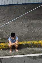 Photo: Mec qui attend.