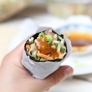 Sushi Burrito Loaded with Fresh Veggies - Gluten-Free, Dairy-Free and Low Calorie!.