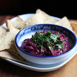 DIY Black Tahini and Beet Hummus