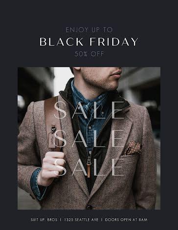 Men's Fashion Sale - Flyer template