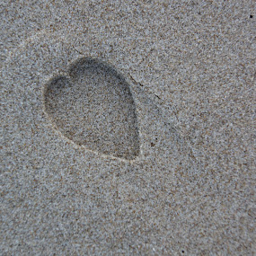 A step in the sand by Pavel Laberko - Abstract Patterns ( pwccurves, sand, heart, beach, step,  )