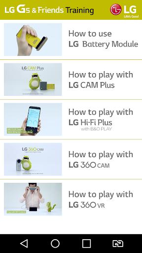 LG G5 Friends Training