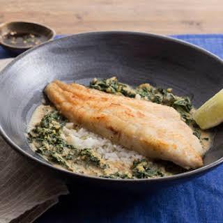 Crispy Catfish with Yellow Curry & Bird's Eye Chile Sauce.