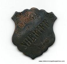 Photo: Storey County Sheriff, Nevada, Badge (Masonic)