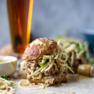 Smoky Pulled Pork Sandwiches with Spiralized Apple Slaw