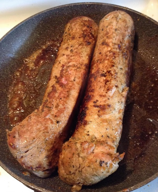 Heat butter in frying pan until melted. Next brown the meat in the butter...