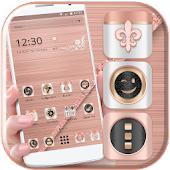 (FREE) Rose Gold Luxury Launcher Theme