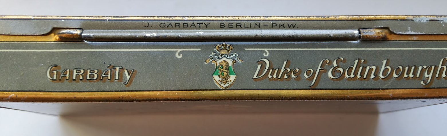 Garbáty - Berlin Pankow - Duke of Edinbourgh - Zigaretten Dose