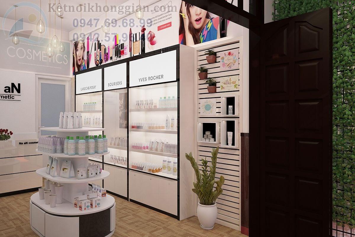 thiết kế cửa hàng mỹ phẩm hợp lý
