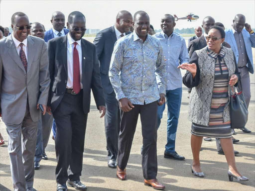 Isiolo Governor Mohammed Kuti, Kisumu Governor Anyang' Nyong'o, Deputy President William Ruto and Health CS Sicily Kariuki