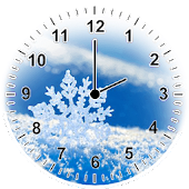 Snowflakes Analog Clock
