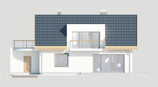 Adaś wersja C z podwójnym garażem - Elewacja tylna