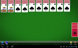 Screenshot of Spider Solitaire