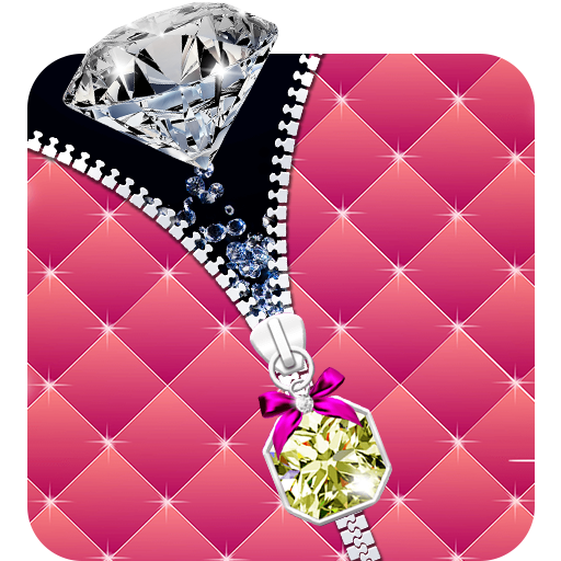 Diamond Ziplock 3D Live Lock Screen Wallpapers