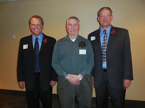 Photo: Brian, their former woods instructor Ken Wing, and Jeff