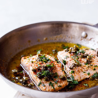 Salmon with Lemon-Butter and Capers.