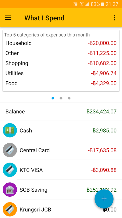 What I Spend- screenshot